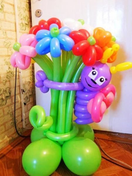 Как сделать красивую композицию из воздушных шариков